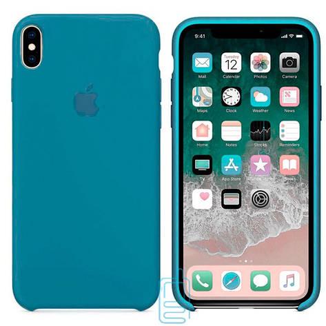 Чехол Silicone Case Apple iPhone XS Max темно-голубой 24, фото 2