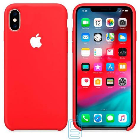 Чехол Silicone Case Apple iPhone XS Max красный 31, фото 2
