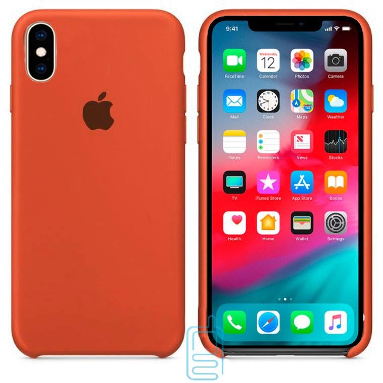 Чехол Silicone Case Apple iPhone XS Max коричневый 33