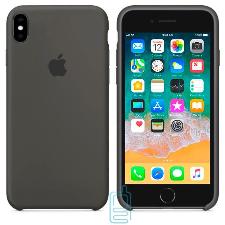 Чехол Silicone Case Apple iPhone XS Max темно-серый 35