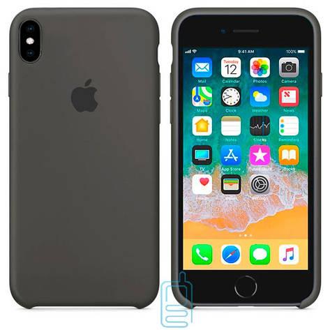 Чехол Silicone Case Apple iPhone XS Max темно-серый 35, фото 2
