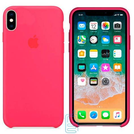 Чехол Silicone Case Apple iPhone XS Max ярко-малиновый 38, фото 2