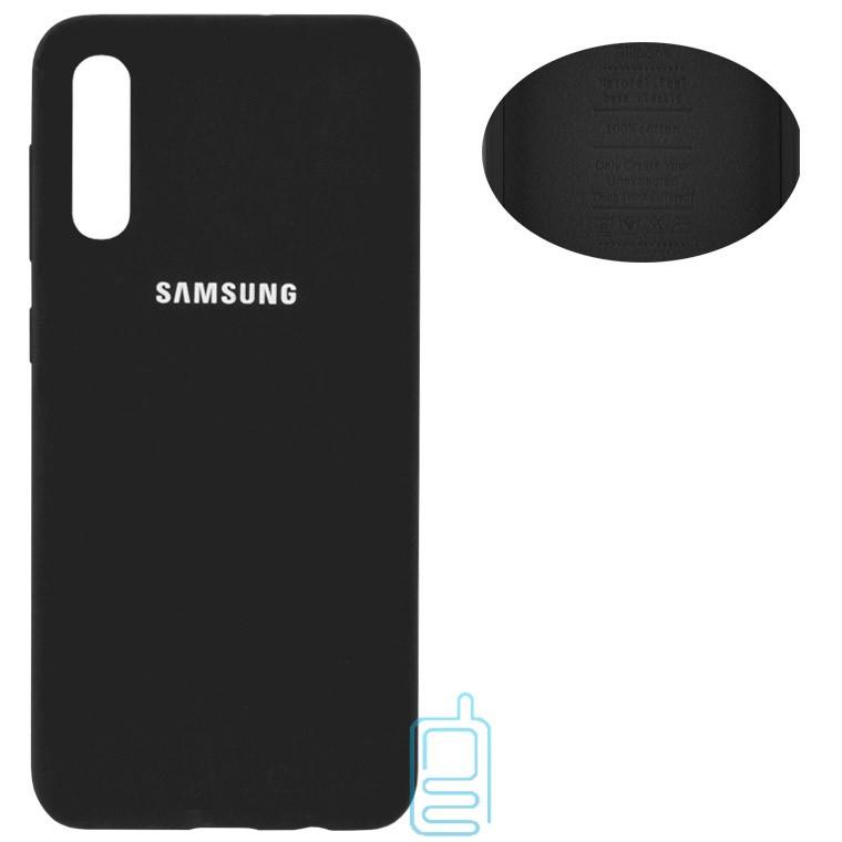 Чехол Silicone Cover Full Samsung A30s 2019 A307, A50 2019 A505, A50s 2019 A507 черный
