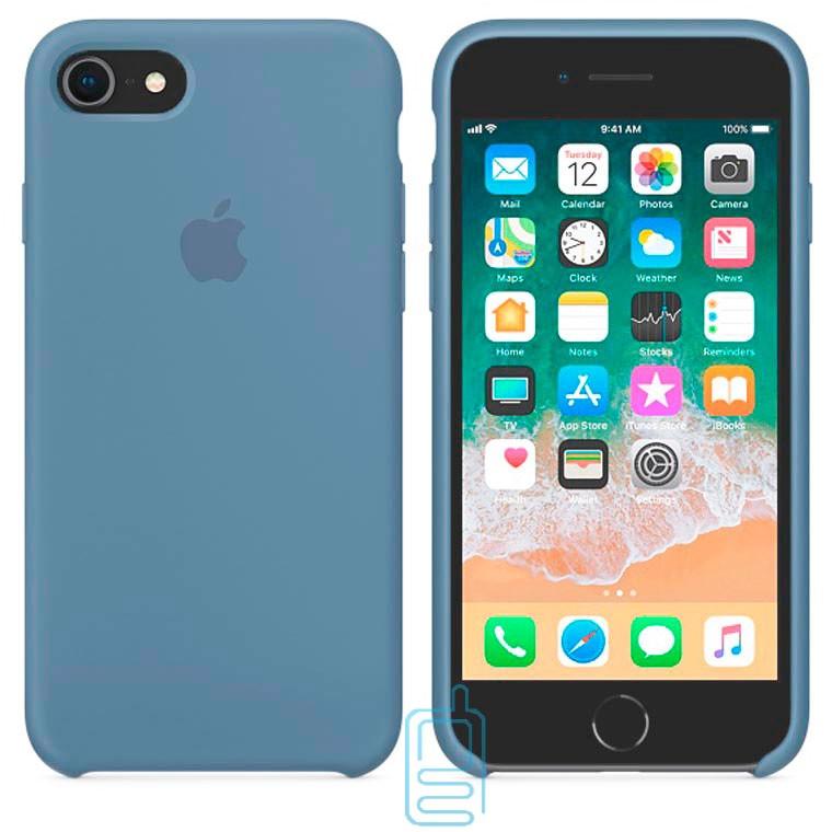 Чехол Silicone Case Apple iPhone 6, 6S темно-голубой 24
