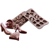Силиконовая форма для шоколада - Женская тематика