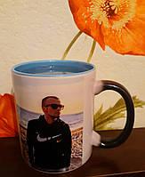 Чашка термо хамелеон с фото под заказ
