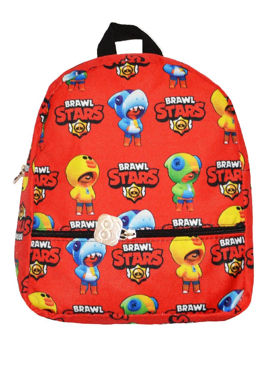 Рюкзак для хлопчика Brawl Stars червоний
