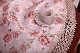 Скатерть Праздничная с Кружевом 130-175 «Beautiful» Овальная №13, фото 2