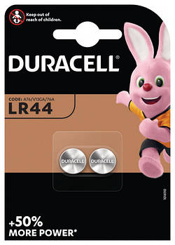 Батарейка Duracell LR44/А76/V13GA/A76, 2шт.