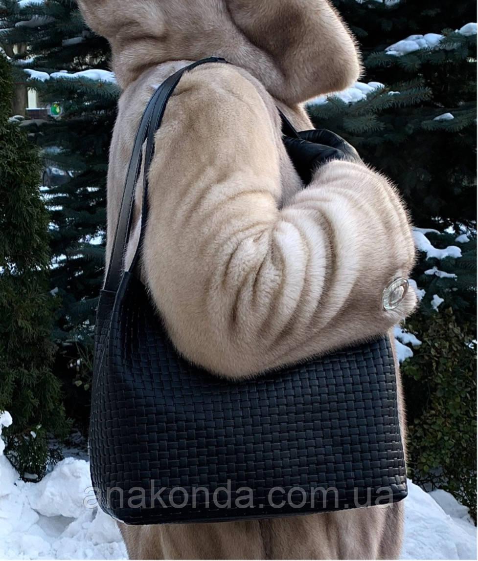 731 Натуральная кожа, Сумка женская черная с тиснением 3D кожаная черная женская сумка мягкая на плечо
