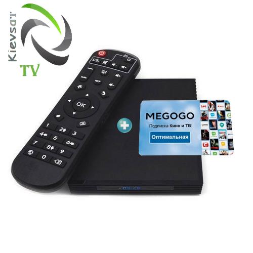 TV BOX Optimum + MEGOGО Кино и ТВ    подписка12 месяцев
