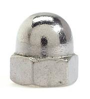 Гайка колпачковая М10 нержавеющая сталь класса А2, DIN 1587