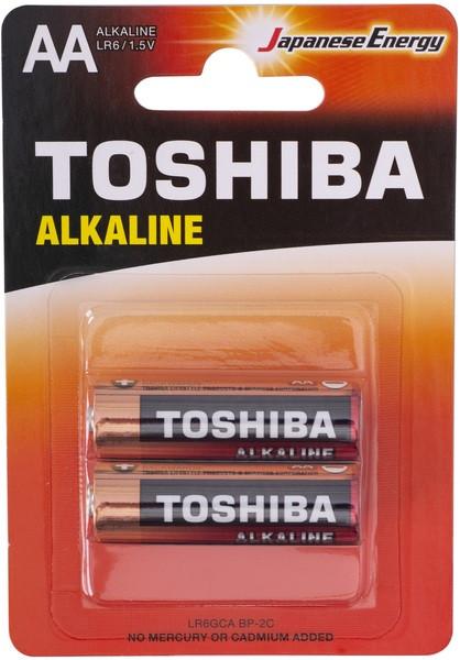 Батарейка АА Toshiba LR6 Economy Alkaline BP, 1x2шт.