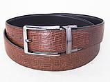 Шкіряний двосторонній ремінь Alon чорний / коричневий, фото 2