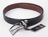Шкіряний двосторонній ремінь Alon чорний / коричневий, фото 3