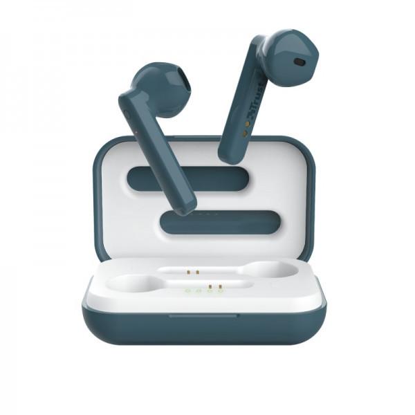 Навушники вкладиші безпровідні з мікрофоном Trust Primo Touch True Wireless (Blue)