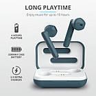 Навушники вкладиші безпровідні з мікрофоном Trust Primo Touch True Wireless (Blue), фото 3