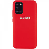 Накладка для Samsung Galaxy A315 A31 Silicone Case Full Protective Red