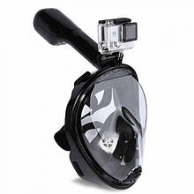 Полнолицевая маска для плавания FREE BREATH (S/M) M2068G с креплением для камеры Черный