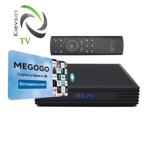 TV BOX Optimum + MEGOGО Кино и ТВ   пульт G20S ( Микрофон Air Mouse Гироскоп )