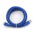 Кабель USB (тато) = microUSB (тато) 1.8 м, Gembird (CCP-mUSB3-AMBM-6) синій, фото 4