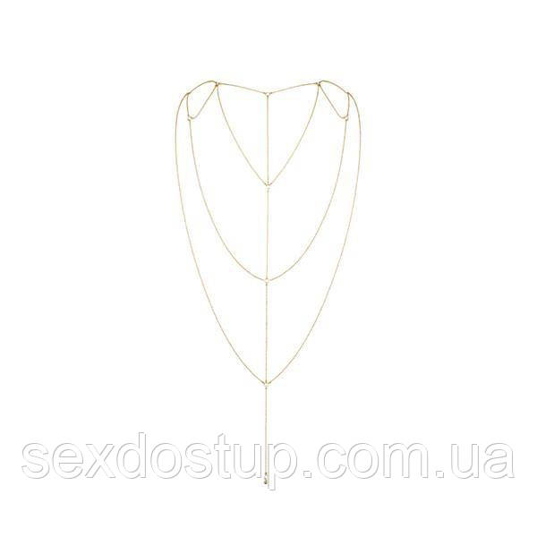 Прикраса для спини Bijoux Indiscrets Magnifique Back and Cleavage Chain - Gold
