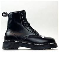 Мужские / женские зимние ботинки Dr. Martens 1460 Sex Pistols черные кожаные ботинки доктор мартинс др мартенс