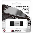Флеш память 32 GB Kingston DataTraveler 80 USB 3.2/Type-C (DT80/32 GB), фото 4