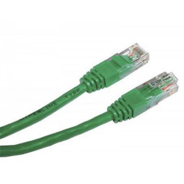 Патч-корд UTP Cablexpert (PP12-0.25 M/G) литий, 50u штекер з защіпкою, 0.25 м, зелений