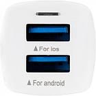 Автомобільний зарядний пристрій Gelius Pro Apollo GP-CC01 2USB 3.1A + Cable iPhone X White, фото 4