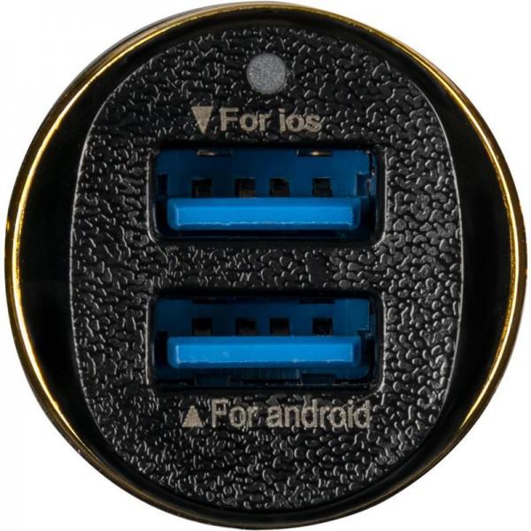 Автомобільний зарядний пристрій Optima Voyager OP-CC02 2USB 2.4 A Black