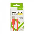 Кабель USB (тато) = Lightning (тато) Optima Flat Speed (C-015) Black, фото 2