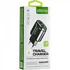Мережевий зарядний пристрій Optima Avangard OP-HC02 2USB 2.4 A + Cable iPhone X Black, фото 3