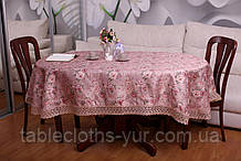 Скатерть Праздничная с Кружевом 130-175 «Beautiful» Овальная №15