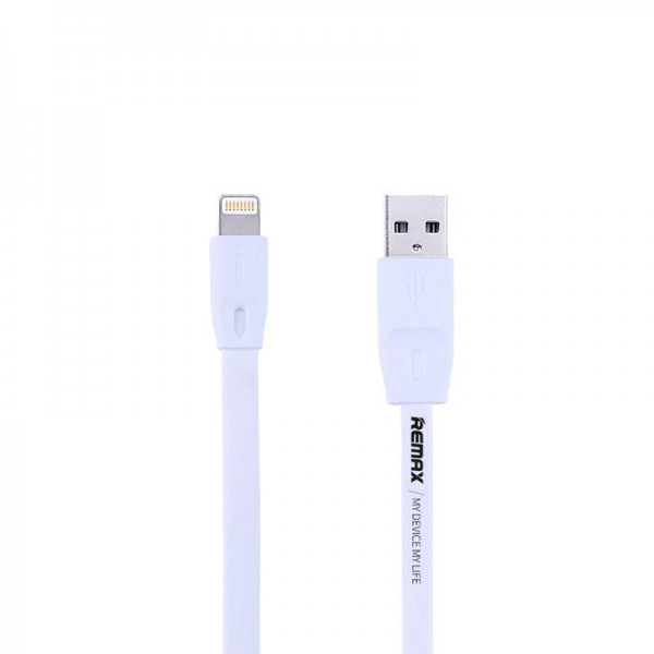 Кабель USB (папа) = Lightning (папа) 1м Remax (OR) Full Speed RC-001i White (5-010)