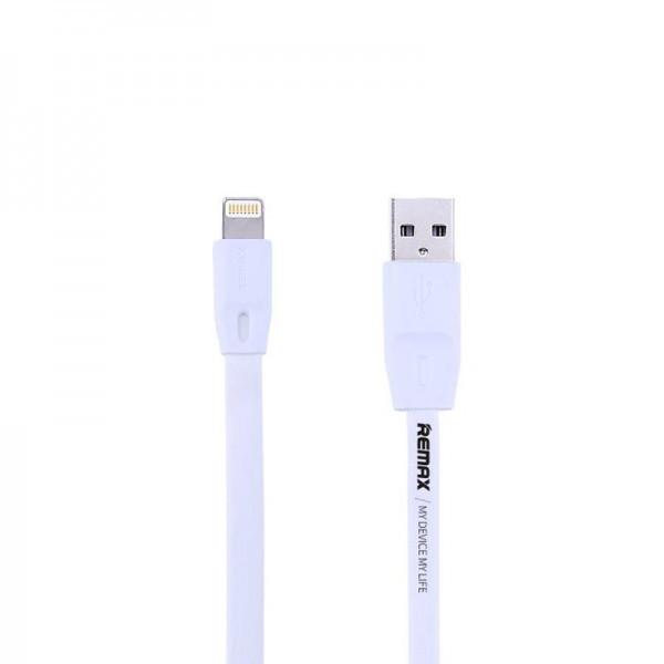 Кабель USB (тато) = Lightning (тато) 1м Remax (OR) Full Speed RC-001i White (5-010)