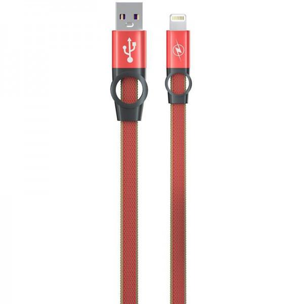 Кабель USB (папа) = Lightning (папа) Gelius Pro Flexible 2 GP-UC07i Red