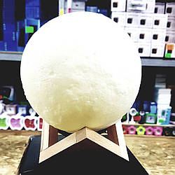 Светильник-ночник 3D MOON LAMP Белая луна 15 см