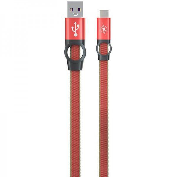 Кабель USB (тато) = USB type C (тато) Gelius Pro Flexible 2 GP-UC07c Red