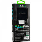 Мережевий зарядний пристрій Gelius Pro Voltag QC GP-HC07 2USB 2A +Type-C Black/White, фото 2