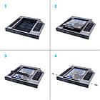 Адаптер Grand-X для підключення HDD 2.5 у відділ приводу ноутбука SATA/SATA3 12.7 мм (HDC-25N), фото 2