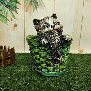 Кашпо для квітів з котиком 17 см