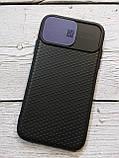 Чехол Iphone 11 силиконовый с защитой камеры Черный, фото 2