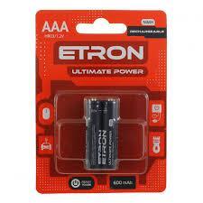 Аккумулятор Etron HR03-R2U-600-С2 Ultimate Power AAA 600mAh, 1x2шт.