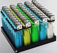 Зажигалка кремниевая прозрачная одноразовая (8 цветов)
