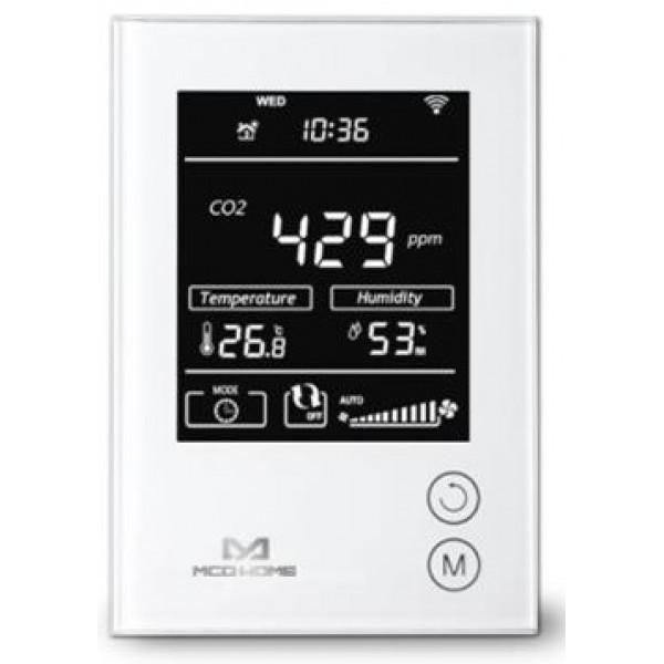 Розумний датчик MCO Home 4в1: СО2, темп., вологи., VOC., Z-Wave, 230V АС, білий