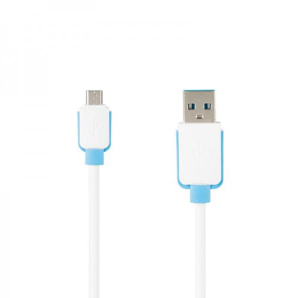 Кабель USB (тато) = microUSB (тато) Economic Promo White