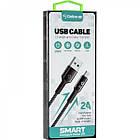 Кабель USB (тато) = microUSB (тато) Gelius Pro Smart GP-U08m Black (2A), фото 3