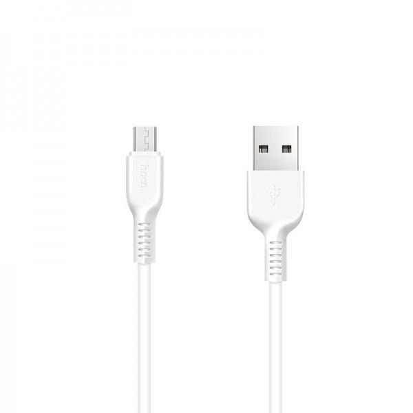 Кабель USB (папа) = microUSB (папа) 1м Hoco X13 Easy Charged White
