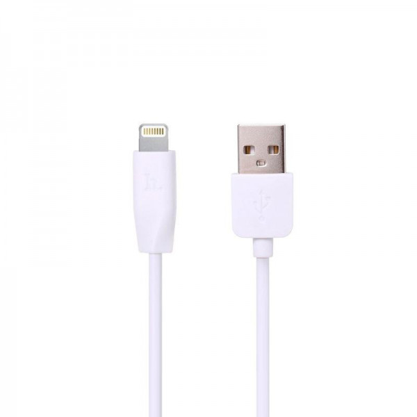 Кабель USB (тато) = Lightning (тато) 1м Hoco X1 Rapid White